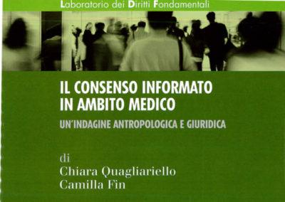 """Rapporto di ricerca antropologica e giuridica sul """"Consenso informato in ambito medico"""""""