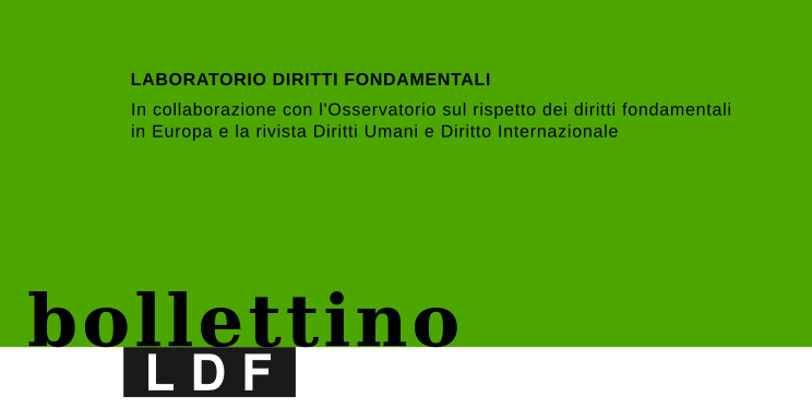 Bollettino n. 30 – luglio 2020